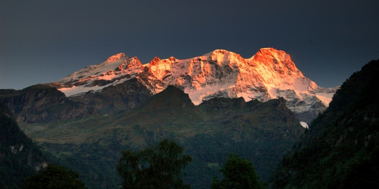 Il Ghiacciaio del Lys e il Massiccio del Monte Rosa