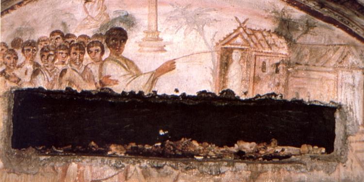 Cultura: a Roma una figura inconsueta nell'arte funeraria paleocristiana