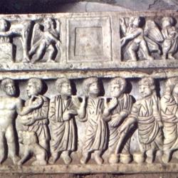 SARCOFAGO CON SCENE BIBLICHE