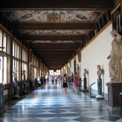 Le sale del Botticelli alla galleria degli Uffizi