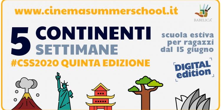 Estate Ragazzi Cinema Summer school 2020