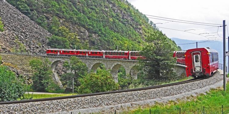 A Livigno e il trenino rosso del Bernina