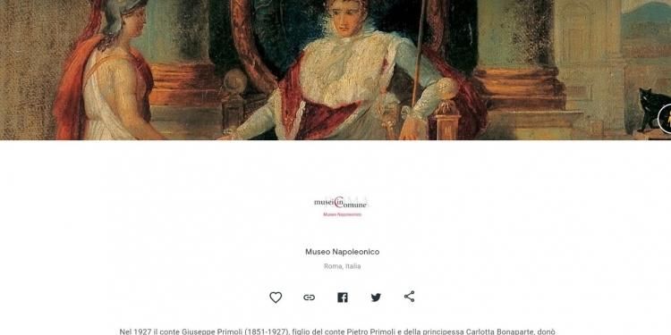 Museo Napoleonico: nuovi contenuti sulla piattaforma Google Arts & Culture