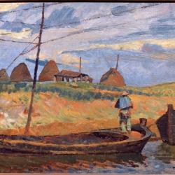 12.Puccini Paesaggio con barche GNAM.jpg