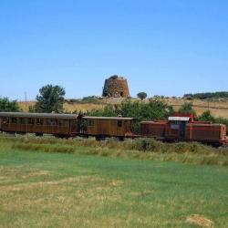 Treno con sfondo Nuraghe Elighe.jpg